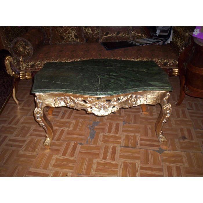 Table basse baroque dor plateau marbre achat vente table basse table basse baroque dor p - Table basse plateau marbre ...