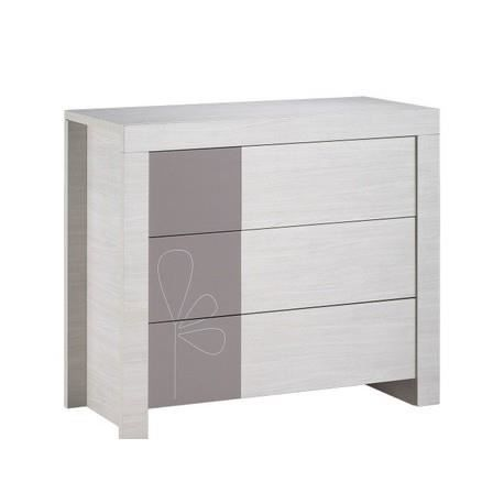Commode opale chambre sauthon taupe avec motif achat vente commode b - Commode bebe cdiscount ...
