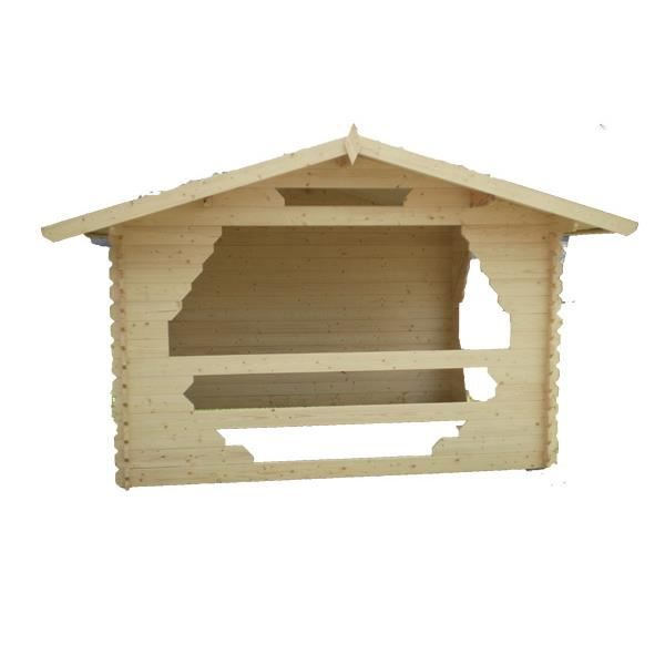 abri de jardin kiosque en bois 3x3 m achat vente abri jardin chalet abri de jardin kiosque. Black Bedroom Furniture Sets. Home Design Ideas