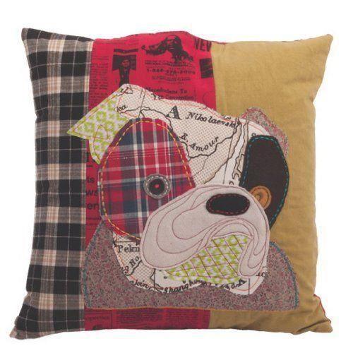 Ian snow housse de coussin motif chiot en patchwork de - Housse de coussin patchwork ...