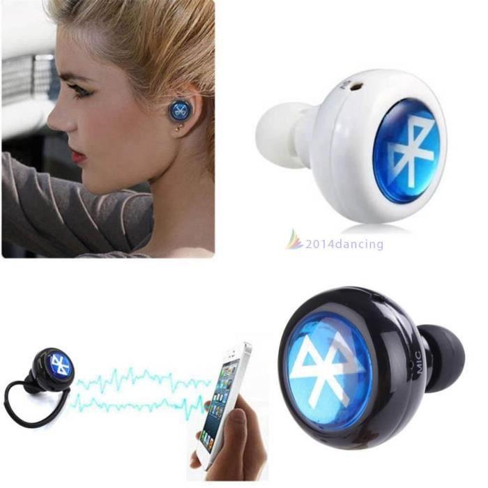 mini bluetooth sans fil intra auriculaire ecouteur noir prix pas cher cdiscount. Black Bedroom Furniture Sets. Home Design Ideas
