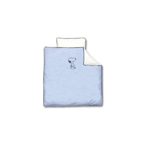 baby boum parure de lit berceau coton chambray 80x80 cm snoopy navy achat vente parure de. Black Bedroom Furniture Sets. Home Design Ideas