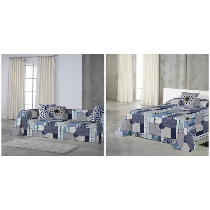 euromoda jet de canap couvre lit denim 180x260 achat vente jet e de lit boutis. Black Bedroom Furniture Sets. Home Design Ideas