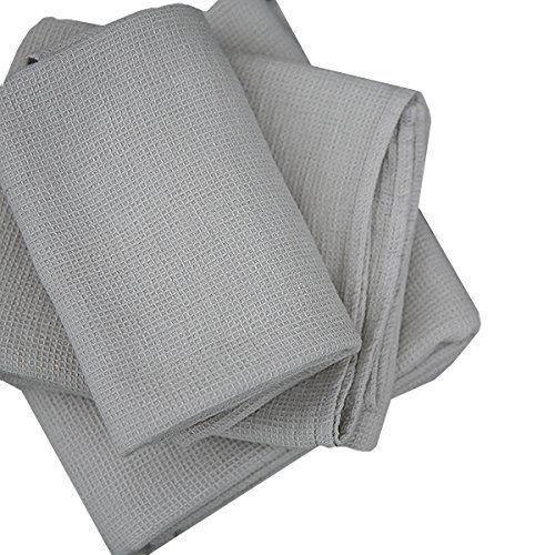 linenme serviette de bain en nid d 39 abeille gris 100 x 160. Black Bedroom Furniture Sets. Home Design Ideas