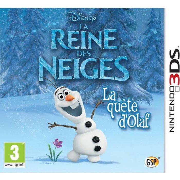 La reine des neiges la qu te d 39 olaf jeu 3ds achat - Jeu reine des neige gratuit ...
