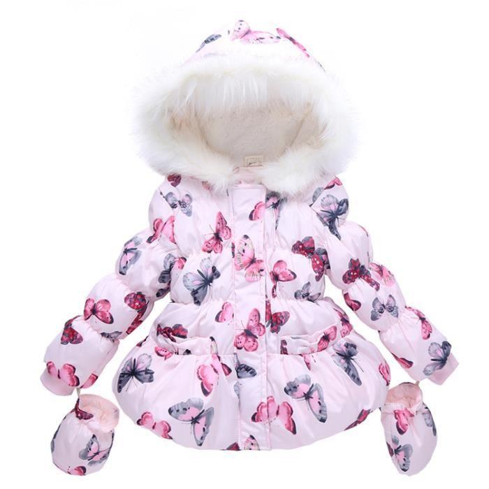 manteau enfant fille chaud n ud papillon manteau de velours et blance achat vente manteau. Black Bedroom Furniture Sets. Home Design Ideas