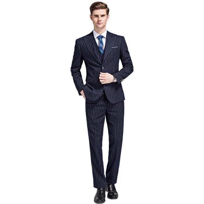 costume homme a rayure costume a rayures 3 pieces pret a porter pour homme