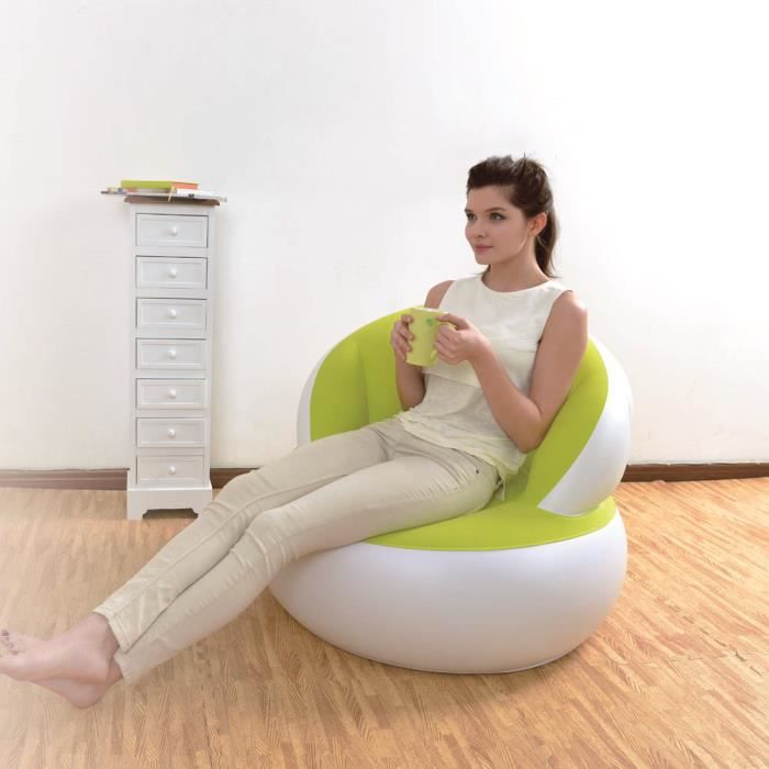 Oke sofa pouf canap gonflable flocage pvc chaise for Chaise gonflable