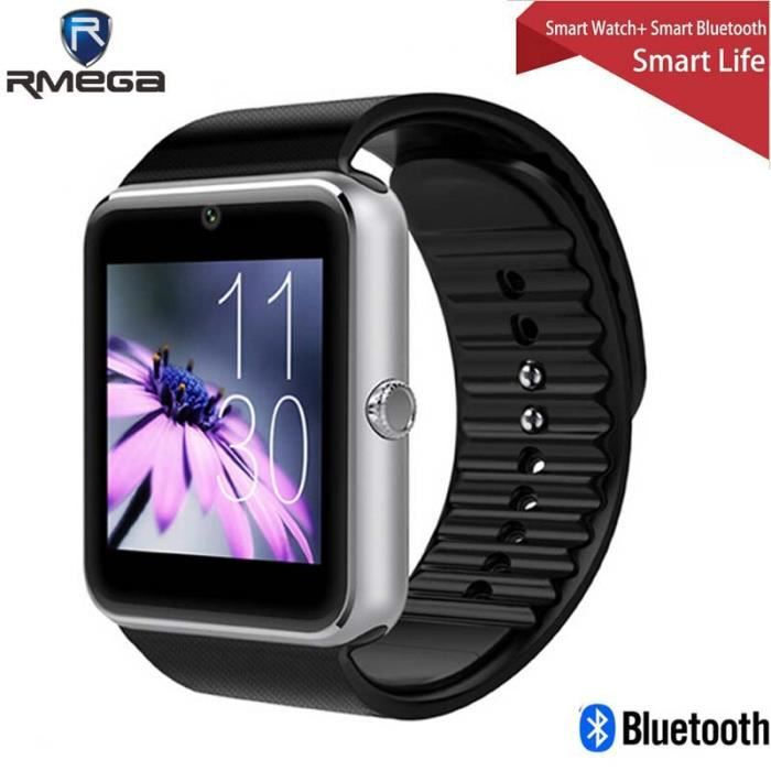 bluetooth montre smart watch compatible pour android ios. Black Bedroom Furniture Sets. Home Design Ideas