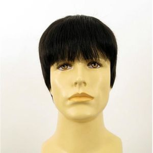 perruque homme noire cheveux naturels STEVE 1b