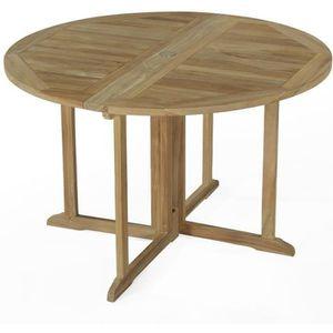 table de jardin en bois ronde achat vente pas cher cdiscount. Black Bedroom Furniture Sets. Home Design Ideas
