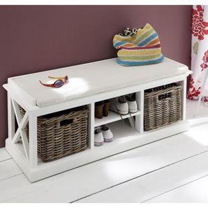 banc entree achat vente banc entree pas cher cdiscount. Black Bedroom Furniture Sets. Home Design Ideas
