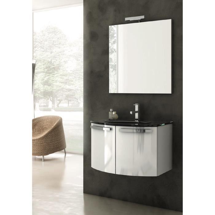 Adina meuble pour salle de bains avec vier et miroir avec for Evier salle de bain avec meuble