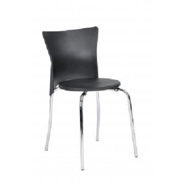 Lot de 4 chaises de salle manger noires achat vente for Lot 4 chaises salle manger