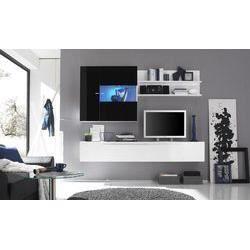 Ensemble meuble tv design olivier 9 quatre couleu achat for Ensemble meuble tv design