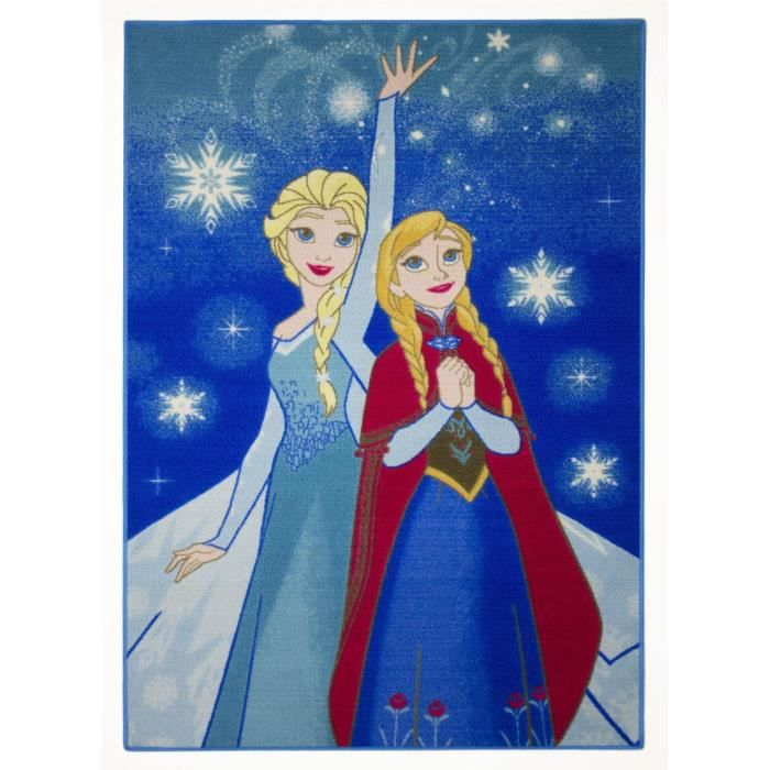 La reine des neiges tapis elsa lumi re 95x133cm achat vente tapis cdiscount Tapis reine des neiges