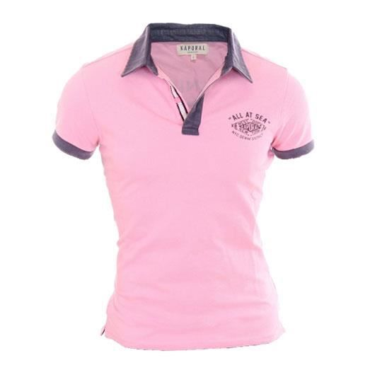 Polo KAPORAL 5 JEANS homme rugby rose Rose Rose Achat / Vente polo
