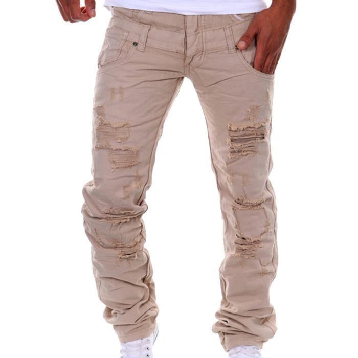 homme cargo pantalons jeans militaire chino pantalon marron 1 achat vente pantalon cdiscount. Black Bedroom Furniture Sets. Home Design Ideas