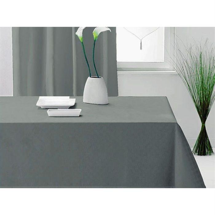 nappe alix 140 x 240 cm grise achat vente nappe de table cdiscount. Black Bedroom Furniture Sets. Home Design Ideas