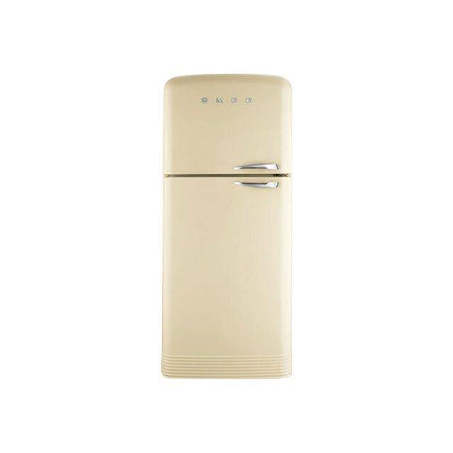 Refrigerateur Congelateur En Haut Creme Smeg Fa Achat