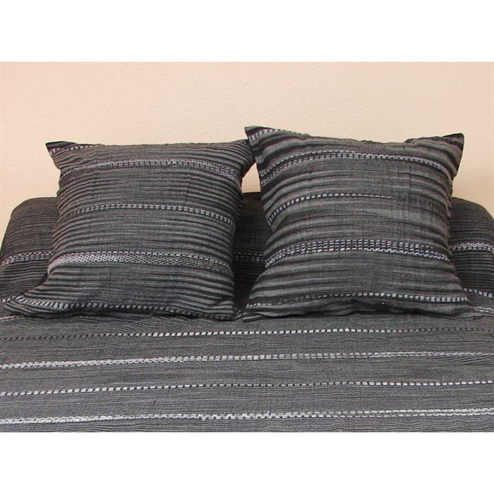 housse de coussin 40x40 cm odile noir 100 coton achat vente coussin cadeaux de no l cdiscount. Black Bedroom Furniture Sets. Home Design Ideas
