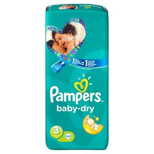 Couches pampers taille 3 achat vente couches pampers taille 3 pas cher cdiscount - Couches pampers baby dry ...