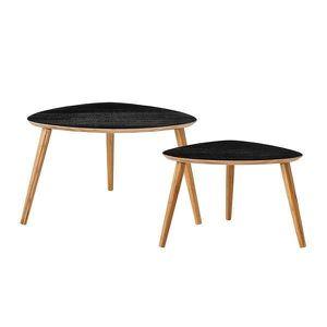maison r table basse noir bois