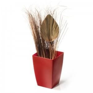 pot de fleur interieur rouge achat vente pot de fleur. Black Bedroom Furniture Sets. Home Design Ideas