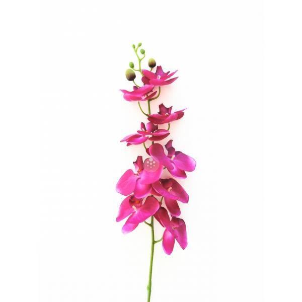 Fleur artificielle orchid e violette tige 1m achat for Vente fleurs artificielles