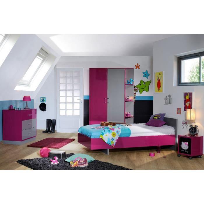 Chambre enfant compl te 90 190 lullaby l 100 x l 197 x h 70 cm achat vente chambre - Chambre enfant soldes ...