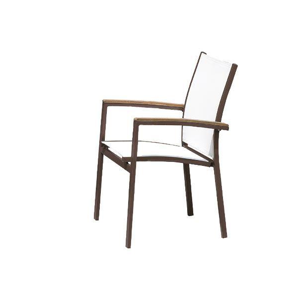 Fauteuil de jardin empilable avec accoudoir tec achat vente chaise fauteuil jardin for Fauteuil de jardin canadien