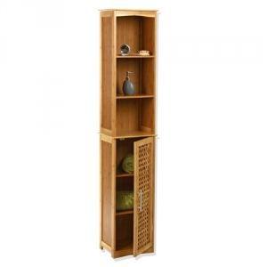 Etag re colonne de rangement pour salle de bain achat for Etagere de salle de bain en bois