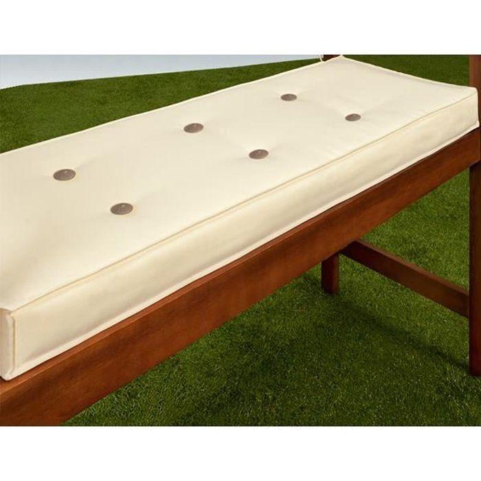 coussin pour banc cr me assise banc 110x45 cm achat. Black Bedroom Furniture Sets. Home Design Ideas