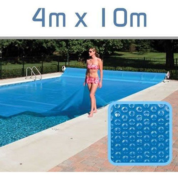 B che bulle 300 microns 4m x 10m linxor achat for Bache a bulle piscine 10x5