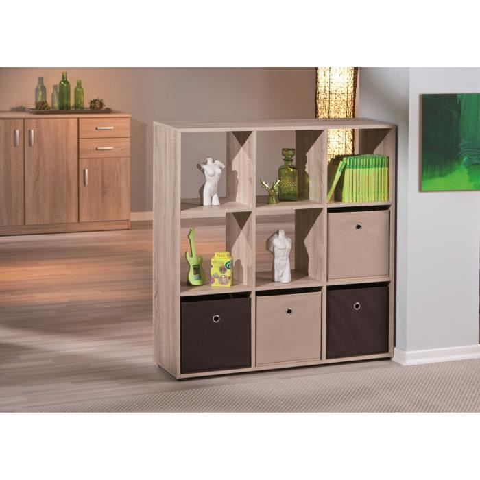 etag re de s paration contemporaine 9 casiers coloris naturel ullo ii achat vente etag re. Black Bedroom Furniture Sets. Home Design Ideas