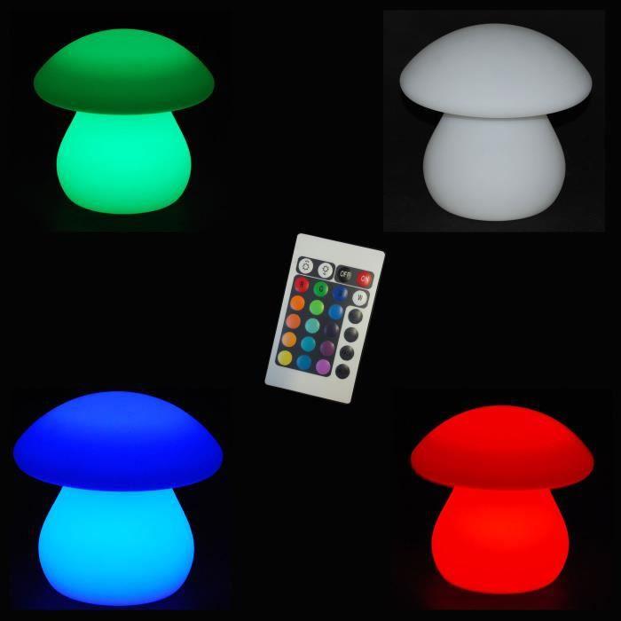 lampe led interieur exterieur 20cm champignon telecommande 16 couleurs achat vente. Black Bedroom Furniture Sets. Home Design Ideas