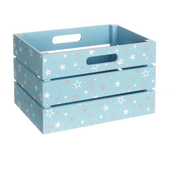 paris prix cagette rangement enfant 29x20cm bleu achat vente boite de rangement cdiscount. Black Bedroom Furniture Sets. Home Design Ideas