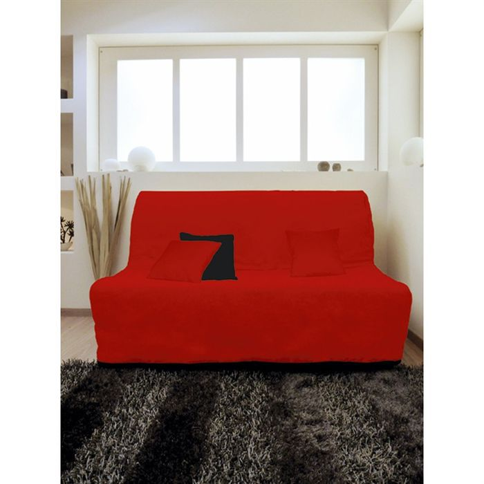 housse bz alix rouge achat vente housse de canap cdiscount. Black Bedroom Furniture Sets. Home Design Ideas