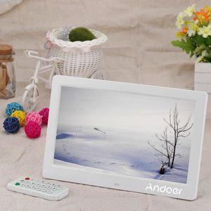 """CADRE PHOTO NUMÉRIQUE ANDOER 10.1"""" Cadre Photo Numérique Blanc avec Télé"""