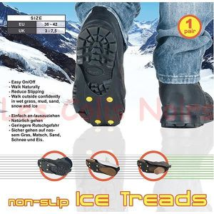 CRAMPON POUR GLACE Paire Crampons Grip Adapatable chaussures 36/42