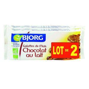 BJORG Galettes Maïs Chocolat au lait Biologique 2x