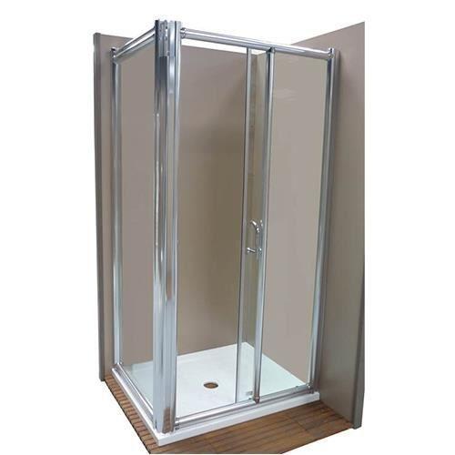 Porte de douche platina d 39 angle 100x75cm achat vente for Porte douche 75 cm