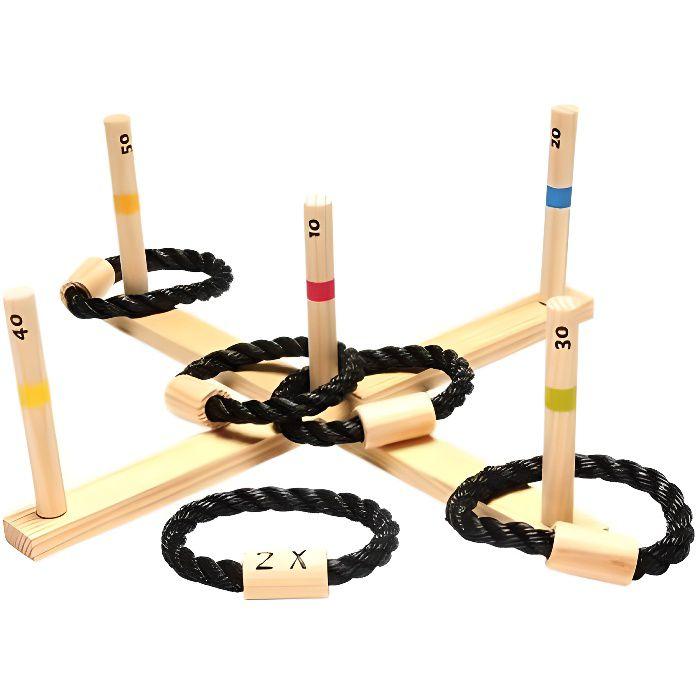 jeu de lancer d 39 anneaux en bois buiten speel achat vente acc jeux d 39 ext rieur. Black Bedroom Furniture Sets. Home Design Ideas