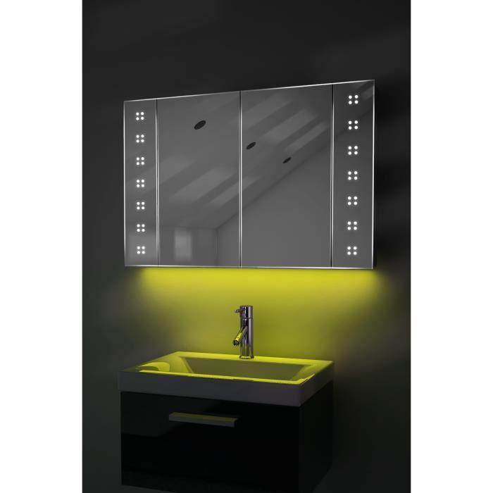 armoire de toilette anti bu e avec capteur et prise rasoir int rieure k122y jaune taille l. Black Bedroom Furniture Sets. Home Design Ideas