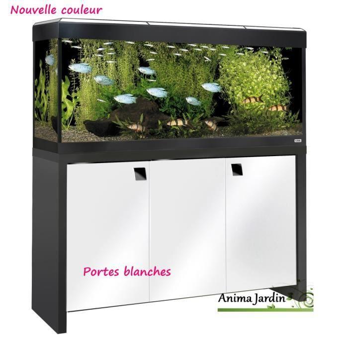 Meuble aquarium blanc pas cher for Aquarium et meuble