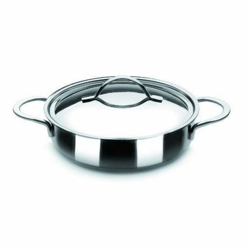 Ibili 605328 plat rond avec couvercle inox noah achat for Plat cuisson inox