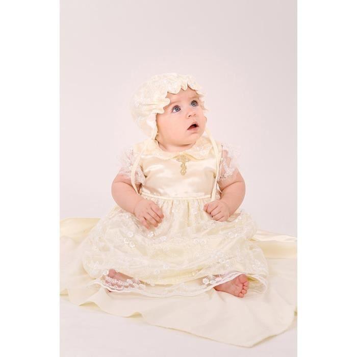 robe de bapt me b b fille robe de bapt me robe de princesse fille v tement bebe fille trois. Black Bedroom Furniture Sets. Home Design Ideas
