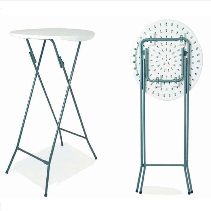 table mange debout pliante 110cm 60cm achat vente. Black Bedroom Furniture Sets. Home Design Ideas