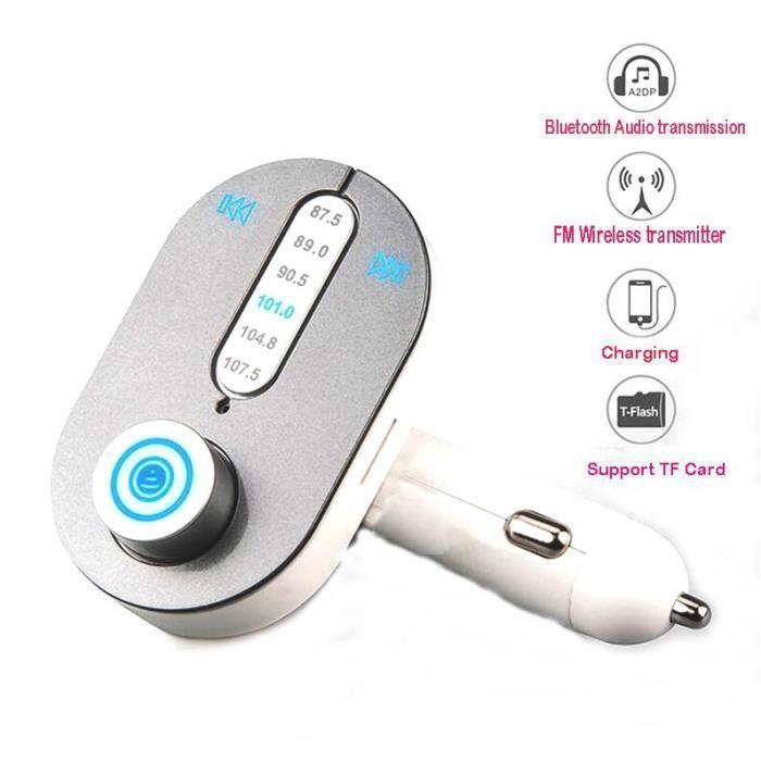 kit main libre voiture bluetooth sans fil t l phone lecteur mp3 transmetteur fm appel micro sd. Black Bedroom Furniture Sets. Home Design Ideas