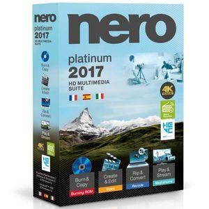 CRÉATION NUMÉRIQUE Logiciel Nero 2017 Platinum